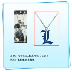 Death Note L Necklace(blue)