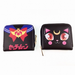 SailorMoon Color PU zipper wal...