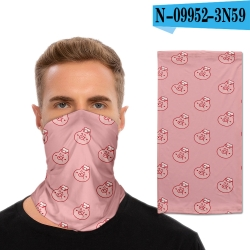 Floral Anime ice mask hood sca...